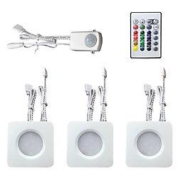 Commercial Electric 3 Light RBG/White LED Mini Puck Kit