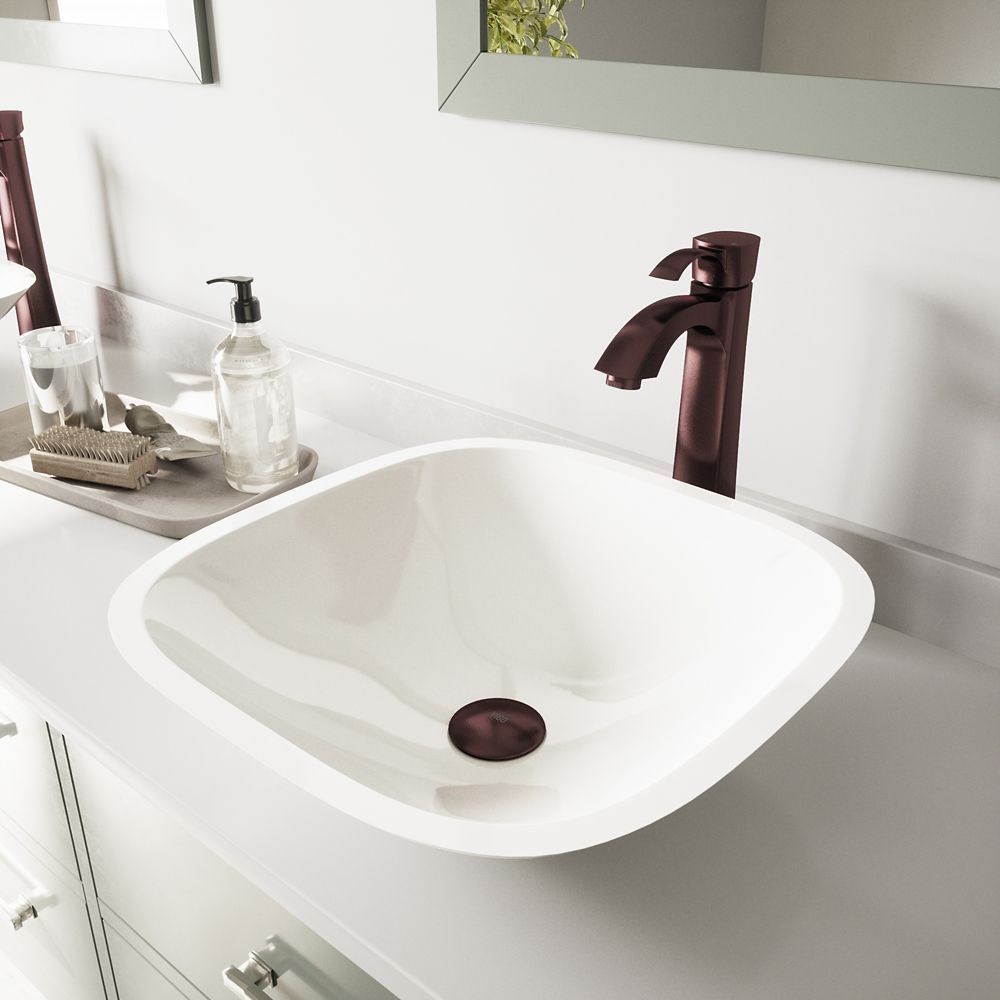 Stone Vessel Sinks Canada : ... White Phoenix Stone Vessel Sink and Otis Faucet VGT204 Canada Discount