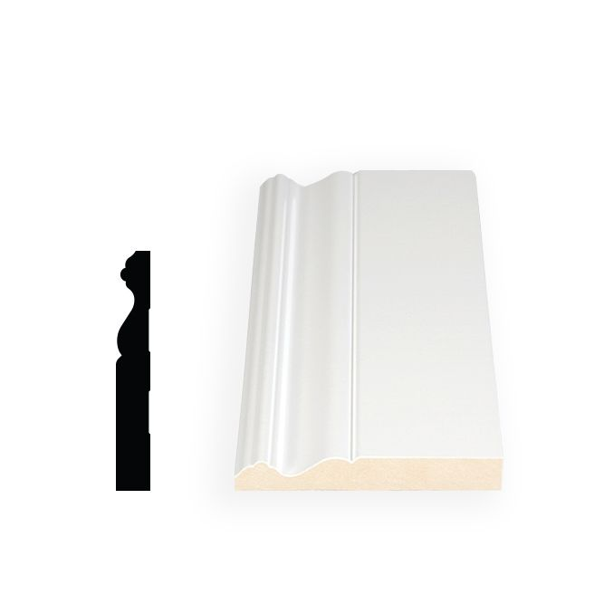 Primed Fibreboard Base 11/16 Inches x 4-3/4 Inches x 120 Inches