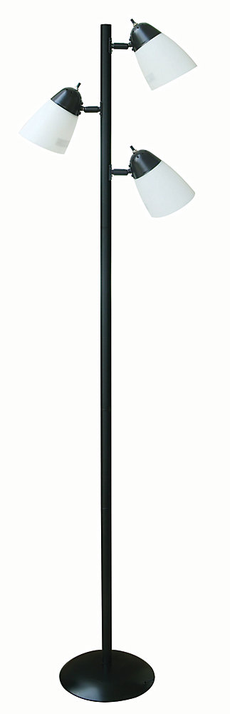 Hampton Bay 64 5 Inch Black Track Tree Floor Lamp With 3