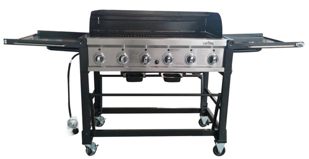 RiverGrille Chuck Wagon 6-Burner Event BBQ