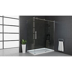 MAAX Halo Big Roller 60-inch Frameless Sliding Shower Door with ...