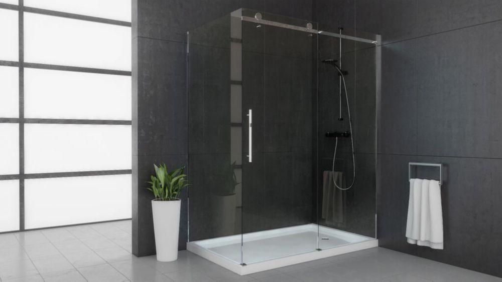 bathroom sliding glass shower doors. 58.50-inch X 74.50-inch Frameless Rectangular Bypass/Sliding Shower Door And Towel Bathroom Sliding Glass Doors Y
