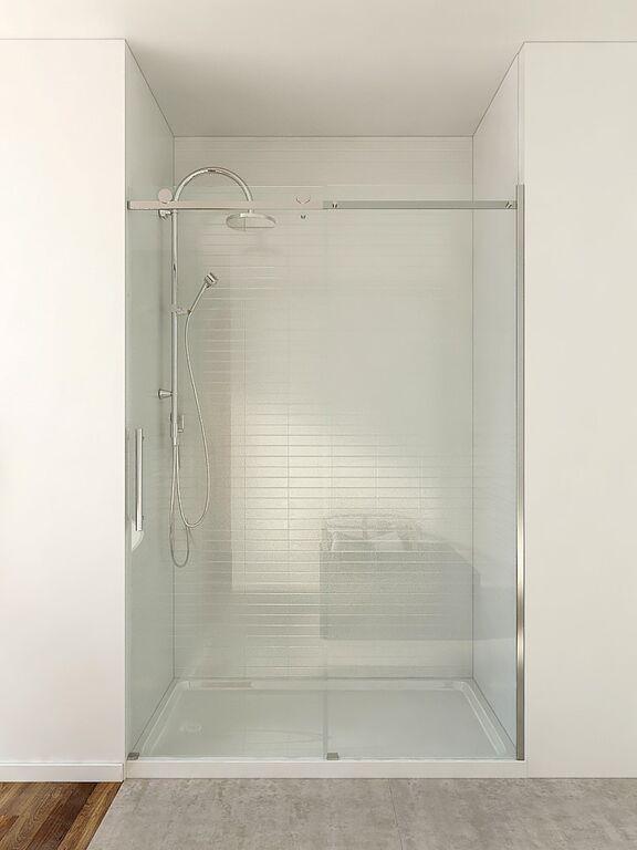 48 Inch Roll Top Shower Door