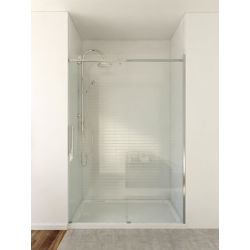 Mirolin 46.50-inch x 74.50-inch Frameless Rectangular Bypass/Sliding Shower Door and Towel Bar