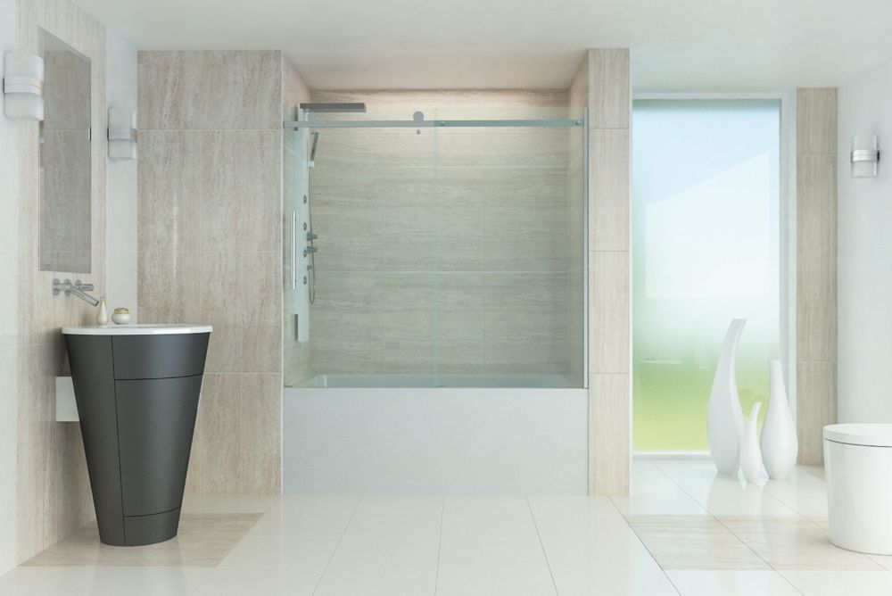 Valley Tub Glass Door For 60 Inch Bathtubs 10mm Tempered
