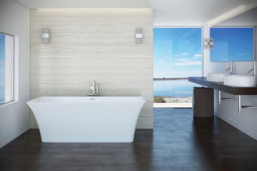 Mirolin Skye 5 ft. 6-inch Acrylic Freestanding Bathtub in White