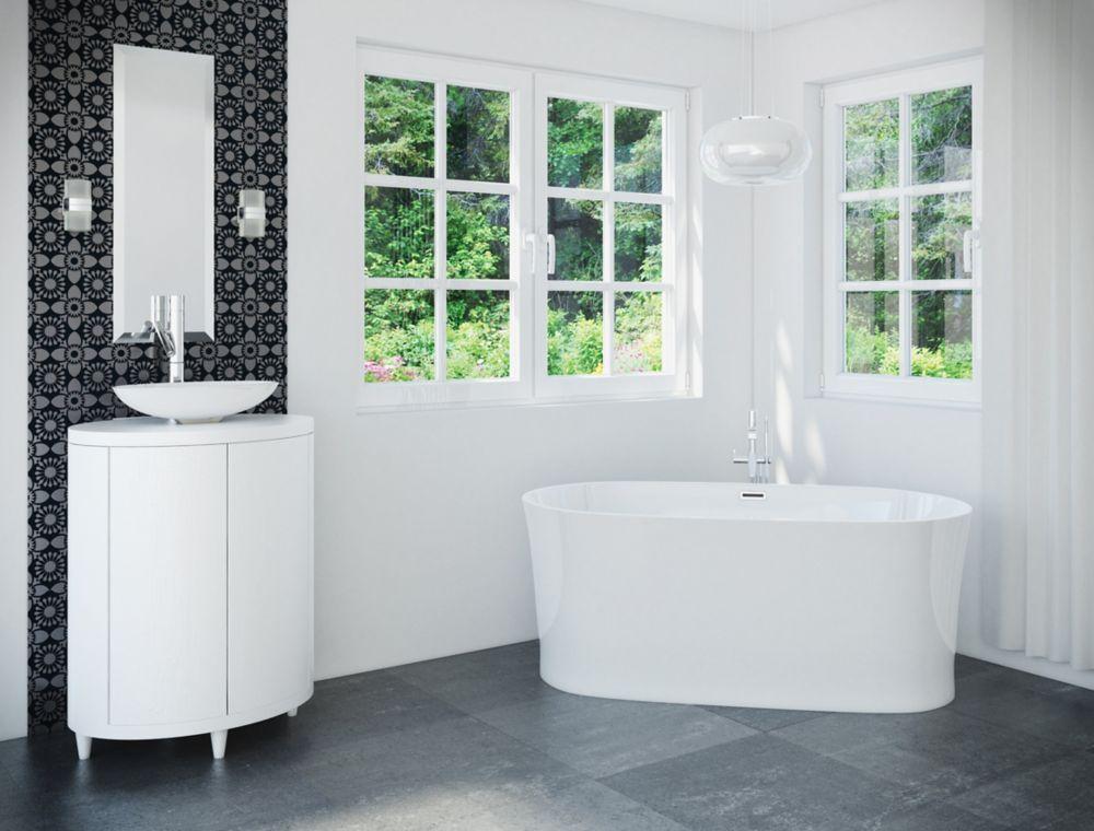 Ashford 5 Feet 6-Inch Oval Freestanding Bathtub