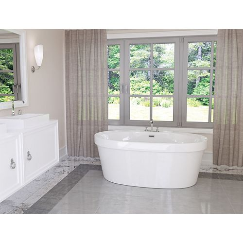 Mirolin Cari 5 ft. Acrylic Freestanding Bathtub in White