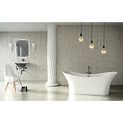 Mirolin Andrina 5 Feet Freestanding Bathtub in White