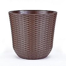 10 Inch Round Wicker Planter
