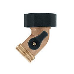 Orbit Brass Goose-Neck with Shut-Off