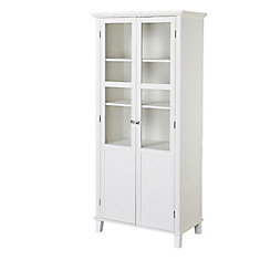 2-Door Storage Cabinet with Adjustable Shelving in White
