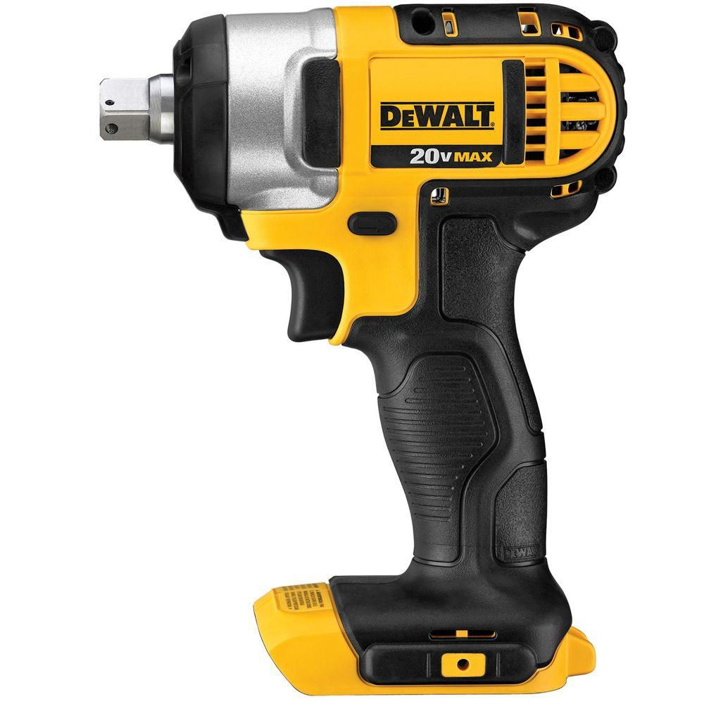 DEWALT 20V MAX Lithium-Ion Cordless 1/2-inch Impact Wrench with Detent Pin (Tool Only)
