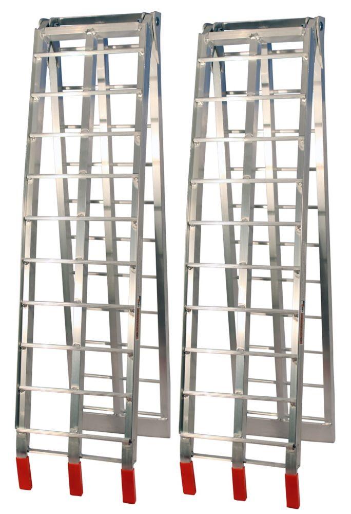 Rampes pliantes en aluminium Job Pro (Argent)