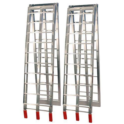 Job Pro Rampes pliantes en aluminium (argent)