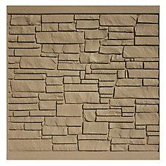 Panneau de clôture 6 X 6 - Granit brun