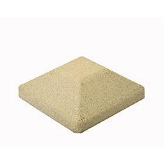 Capuchon de poteau de clôture carré en composite beige de 5 po x 5 po