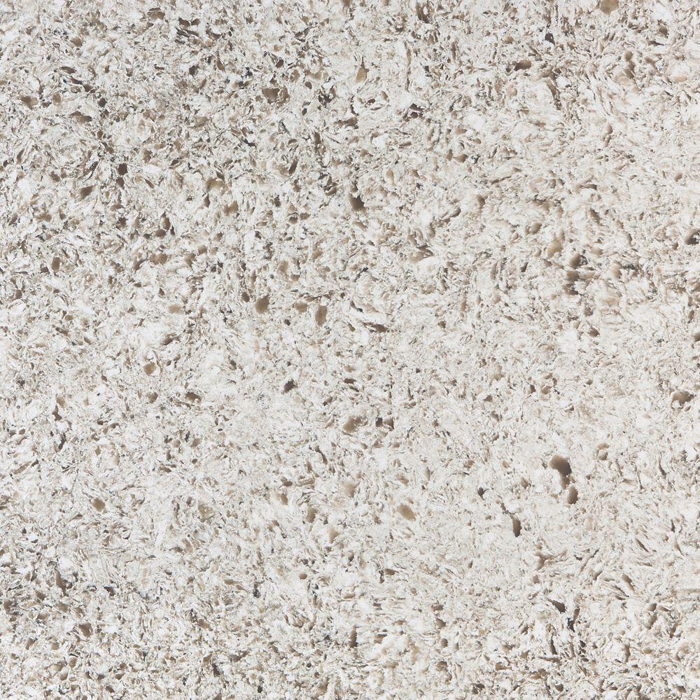 4-inch x 4-inch Quartz Countertop Sample in Arctic