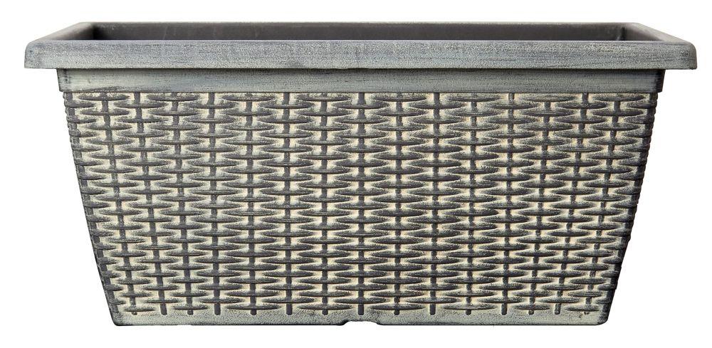 20 Inch.  Wicker Window Box
