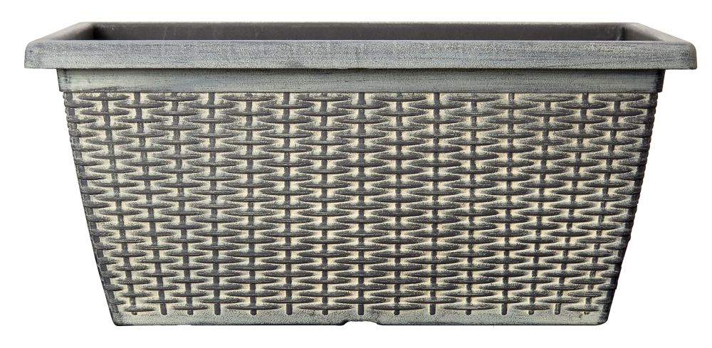 CTi Plastics 20-inch Wicker Window Box