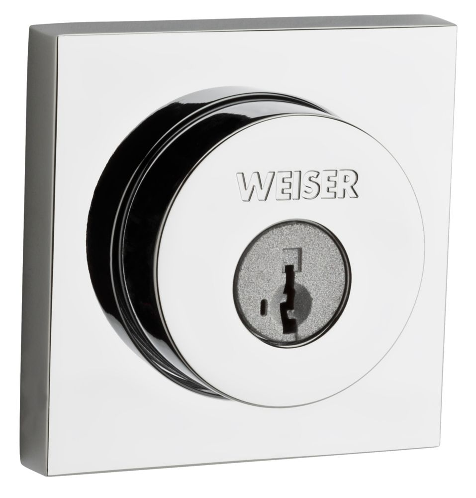 Welcome Home Polished Chrome Square Deadbolt