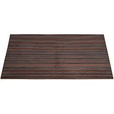 Slat Brown 1 ft. 6-inch x 2 ft. 6-inch Indoor/Outdoor Rectangular Door Mat