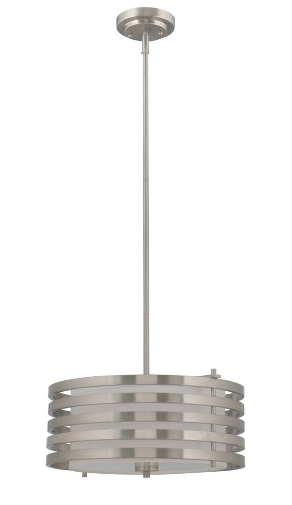 Home Decorators Collection Dia 17-inch Pendant Light Fixture in Brushed Nickel