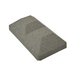 Capuchon de poteau de clôture double en ligne en composite gris de 5 po x 10 po