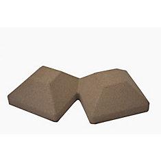 Capuchon de poteau de clôture de 5 po x 10 po en composite brun 45 degrés