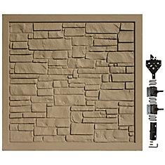 Barrière de protection de la vie privée en matériau composite brun de 6 pi L x 6 pi H