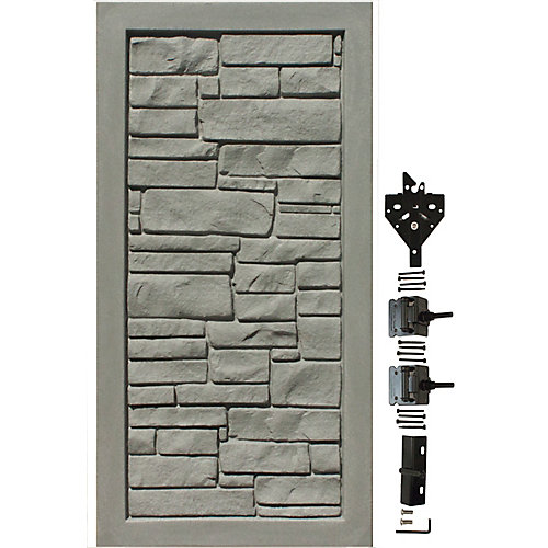 3 ft. W x 6 ft. H Gray Composite Privacy Fence Gate