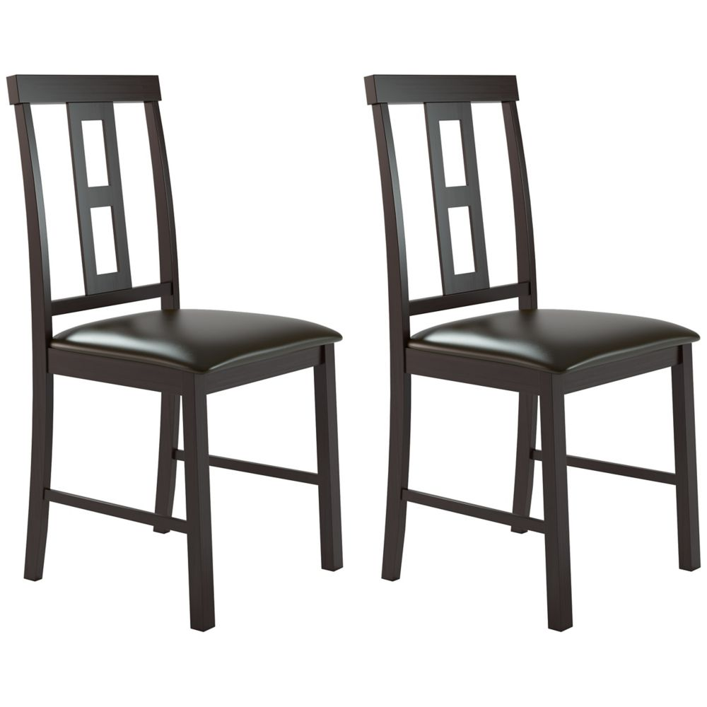 Corliving Dining Collection Square Back Dining Chairs In