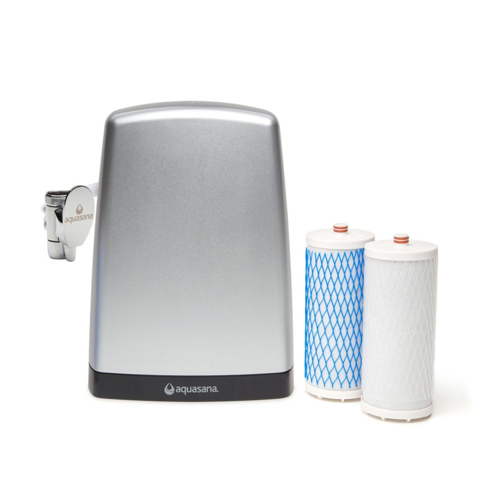 Filtre à eau de comptoir (acier brossé de haute qualité)