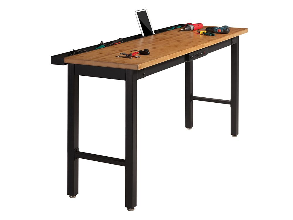 Newage 72 Inch.  Bamboo Work Bench With Power Bar