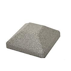 Capuchon de poteau de clôture carré en composite gris de 5 po x 5 po