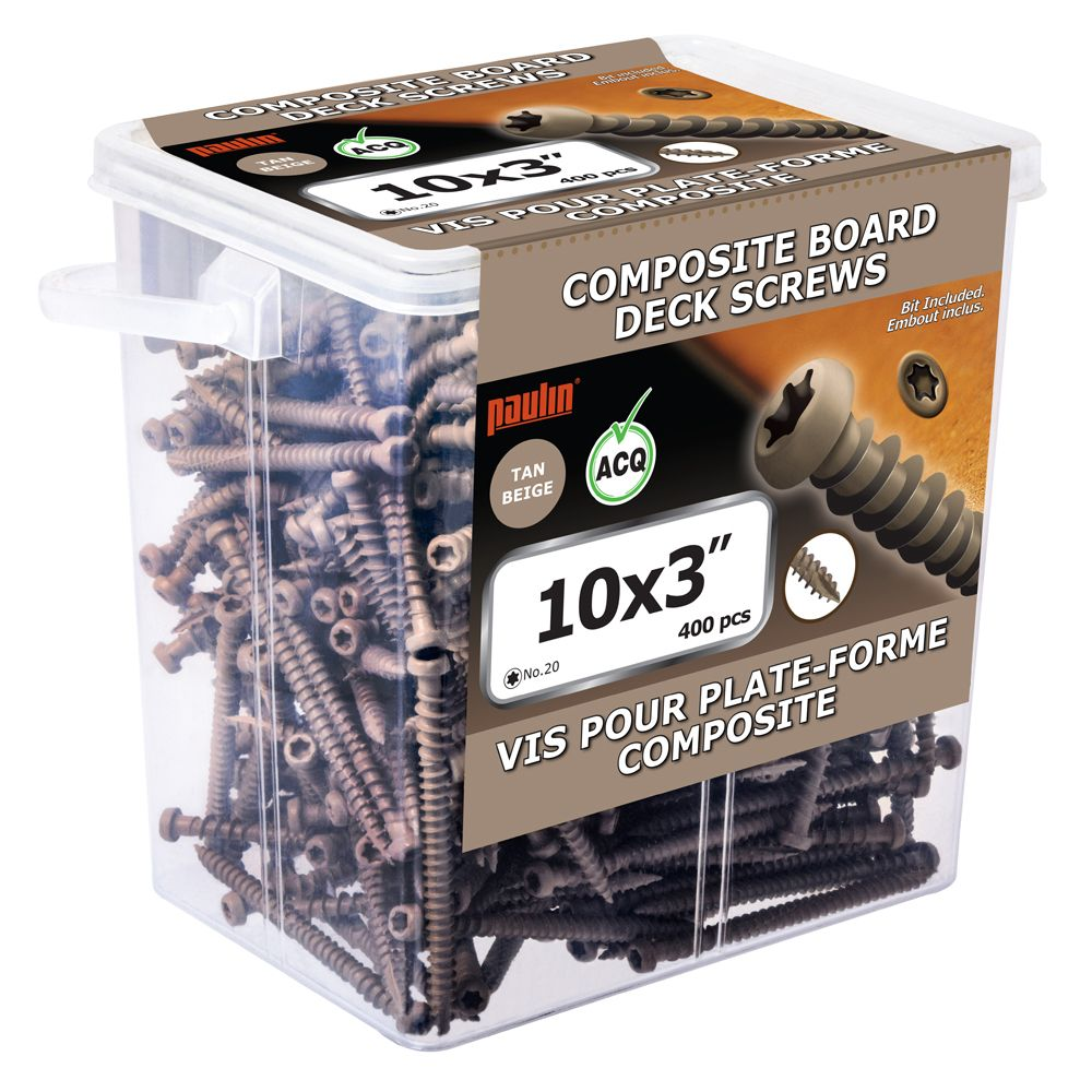 Composite Screw 10 3 Inch Tan