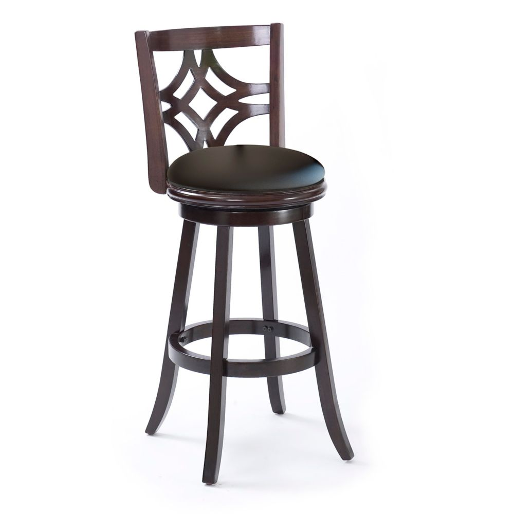 Corliving tabouret de bar en bois woodgrove 43po couleur cappuccino home depot canada for Tabouret bar couleur