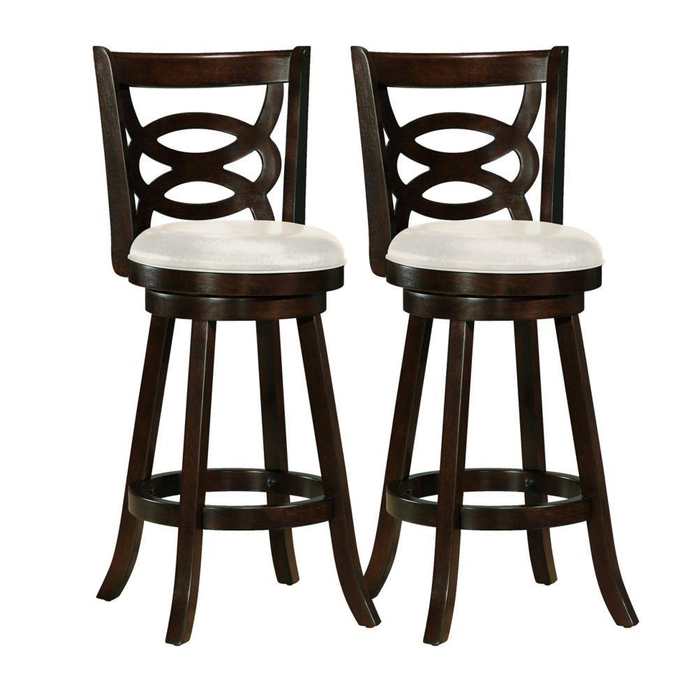 Ensemble de 2 tabourets de bar Woodgrove 43po couleur cappuccino