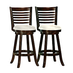 Ensemble de 2 tabourets de bar Woodgrove 43po couleur cappuccino