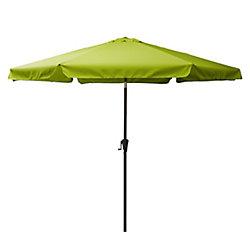 Corliving 10 ft. Round Tilting Lime Green Patio Umbrella