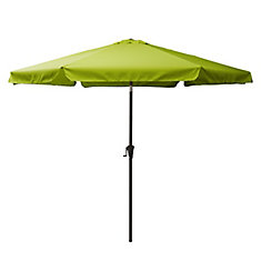 10 ft. Round Tilting Lime Green Patio Umbrella