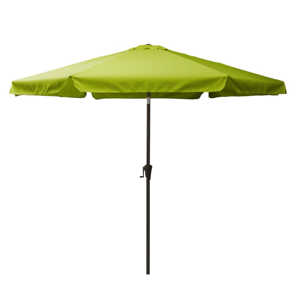 Tilting Patio Umbrella In Lime Green