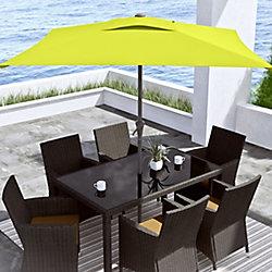 Corliving 9 ft. Square Tilting Lime Green Patio Umbrella