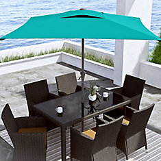 Square Patio Umbrella in Turquoise Blue