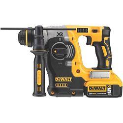 DEWALT 20V MAX XR Li-Ion 1-inch Cordless SDS-plus Brushless L-Shape Concrete/Masonry Rotary Hammer w/ (2) Batteries 5Ah