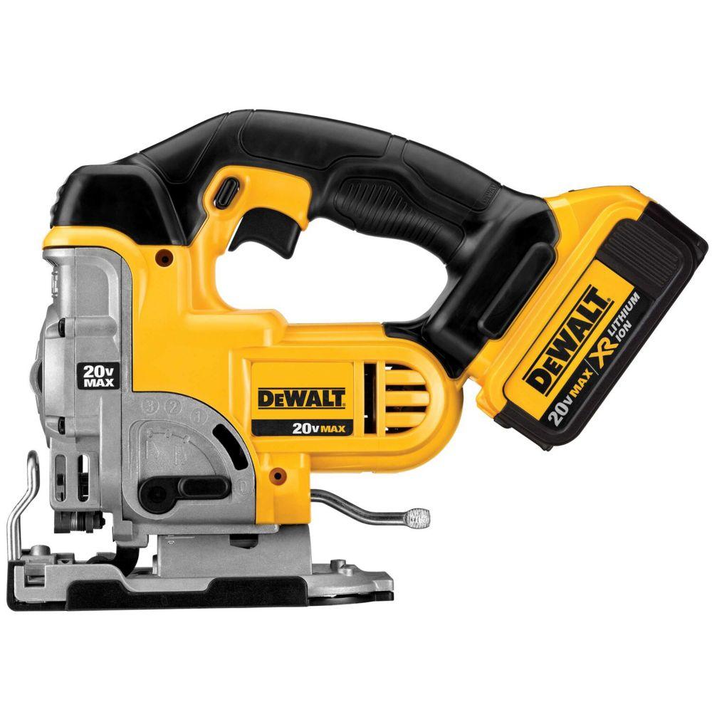 DEWALT 20V MAX Li-Ion Jig Saw (4.0Ah) with 1 Battery and Kit Box