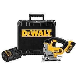 DEWALT 20V MAX Lithium-Ion Cordless Jig Saw Kit with Battery 4Ah, Charger and Case