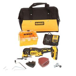 DEWALT 20V MAX XR Li-Ion Cordless Brushless Oscillating Multi-Tool Kit w/ Battery 2Ah, Charger and Contractor Bag