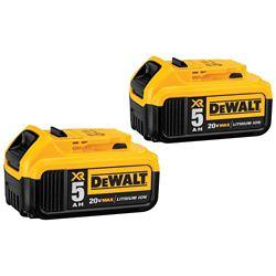 DEWALT 20V MAX XR Lithium-ion Premium Premium Battery Pack 5.0Ah (2-Pack)